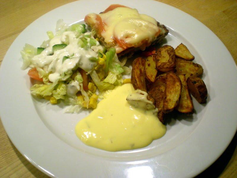Gigantbøf med peberfrugt, tomat og ost…
