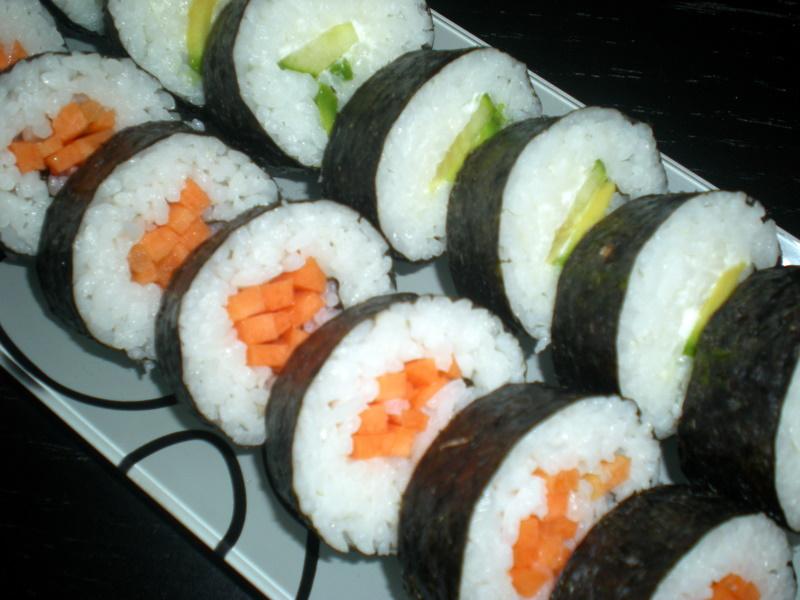 Hjemmelavet sushi…