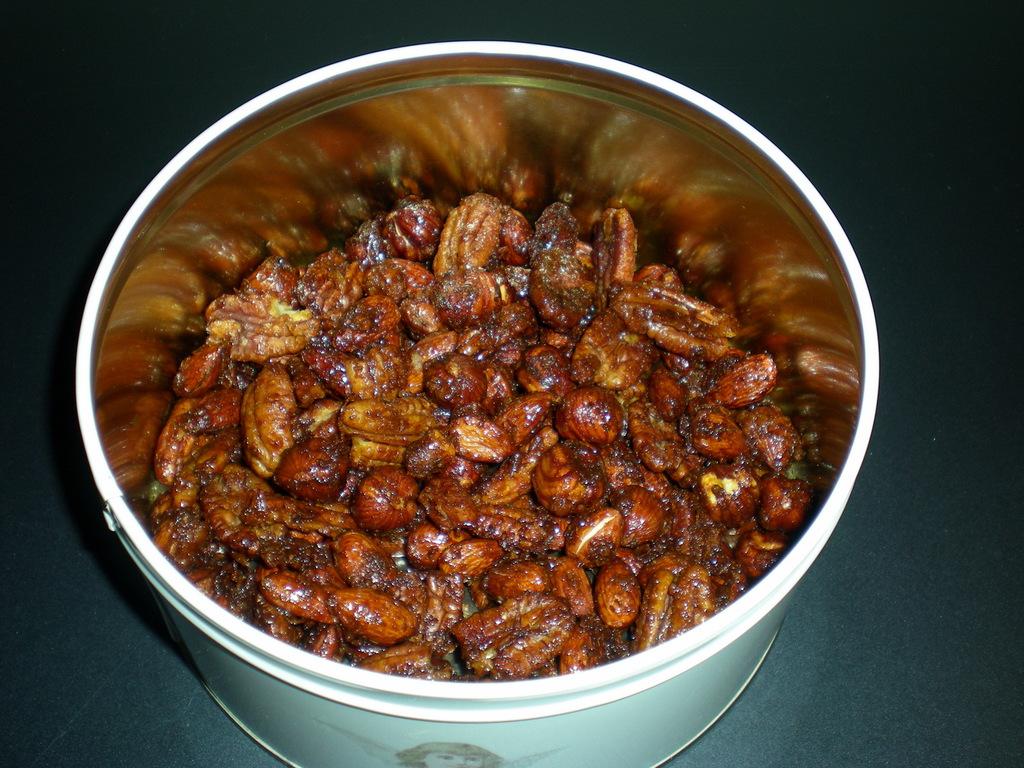 Sweet chili nuts…
