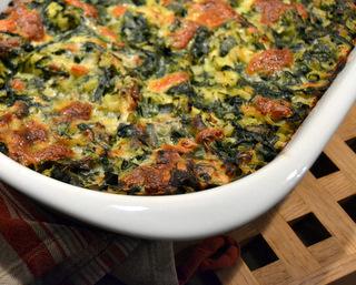 Spinatlasagne med bechamelsauce og mozzarella…