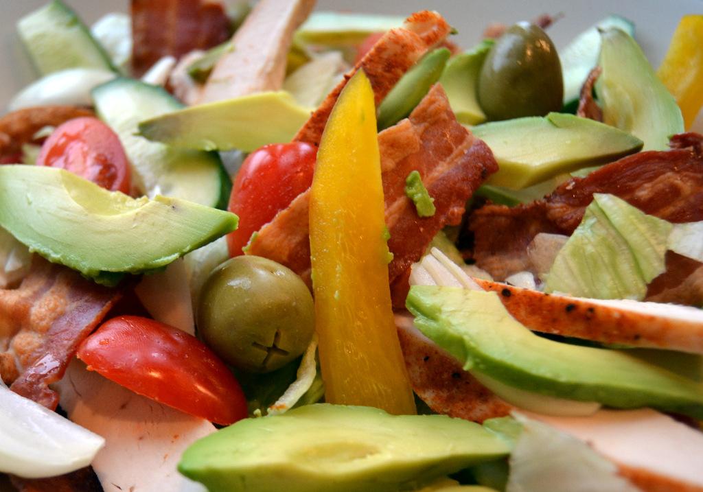 Cobb Salad med kylling og bacon…