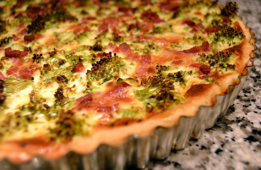 Broccolitærte med bacon…