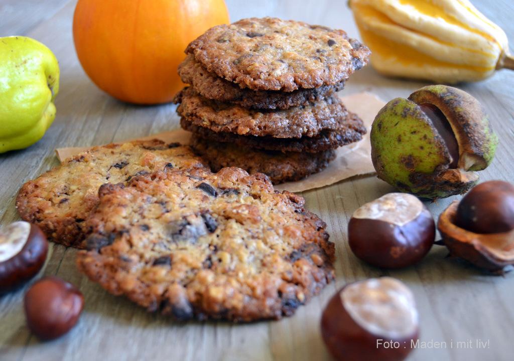 Lækre cookies til efterårsferien…