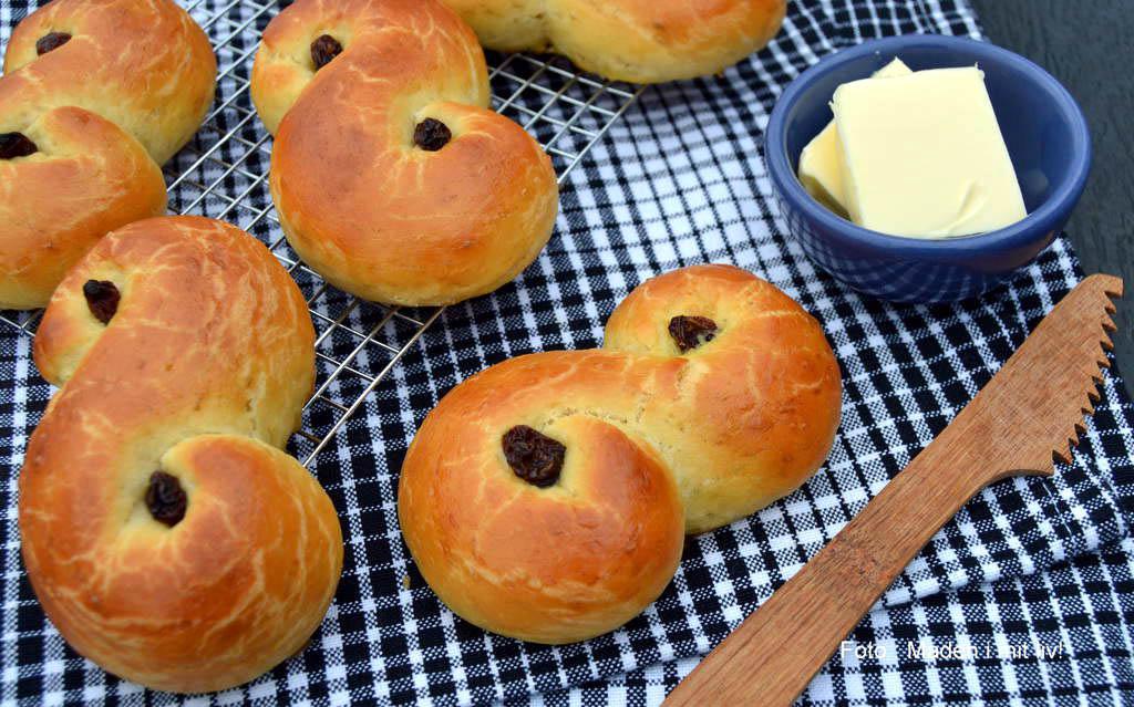Luciaboller – opskrift på luciabrød til luciadag.