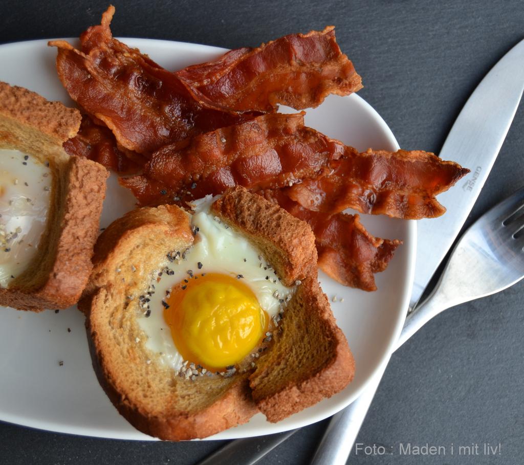 Grove toastmuffins med æg og bacon…