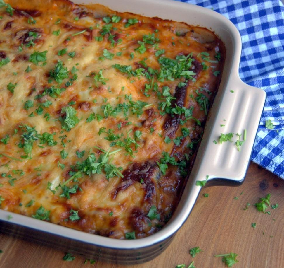 Græsk moussaka med kartofler og aubergine…
