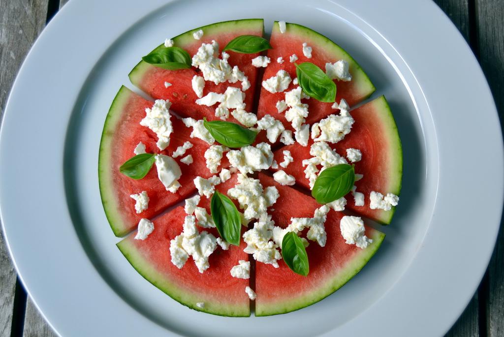 Lækker grill snack med vandmelon og feta…