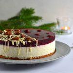 Risalamande kage med kirsebær