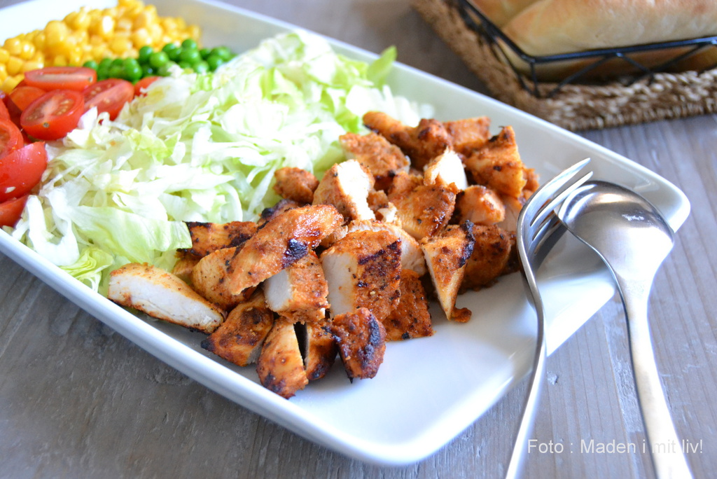 Hjemmelavet kyllingeshawarma…