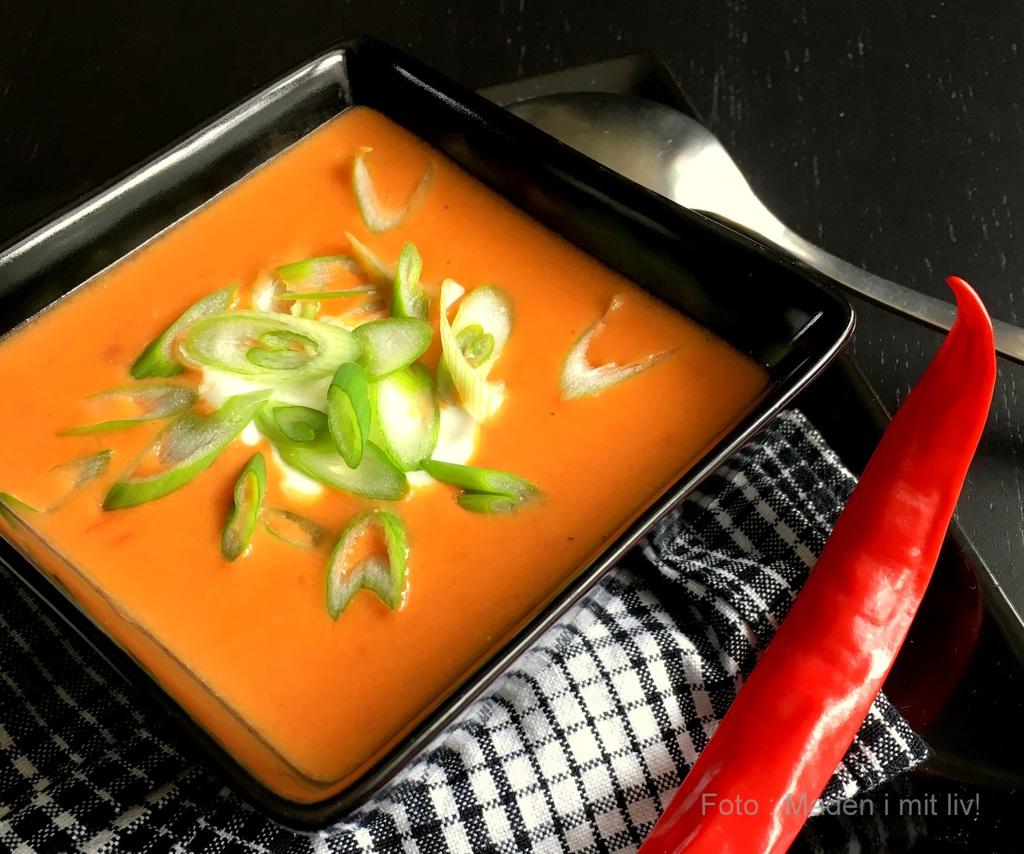 Lækker og spicy chilisuppe…