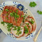 Kalkunbryst med pikantost og bacon