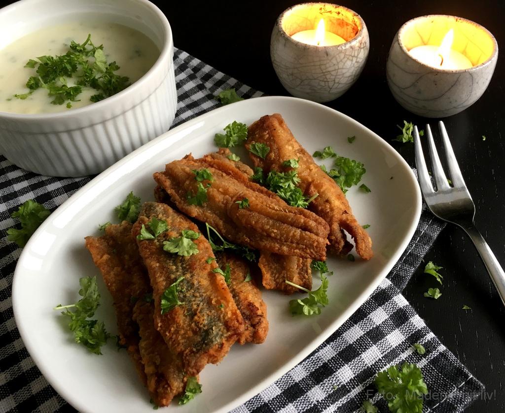 Stegte sild med persillesauce og kartofler…