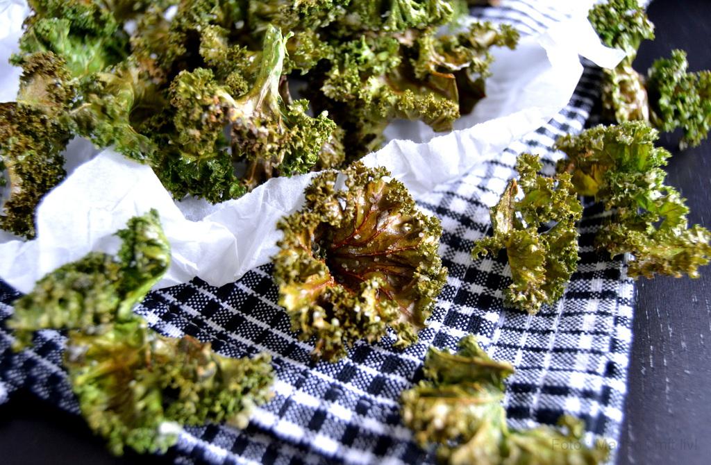 Grønkålschips – lækre sprøde chips af grønkål…