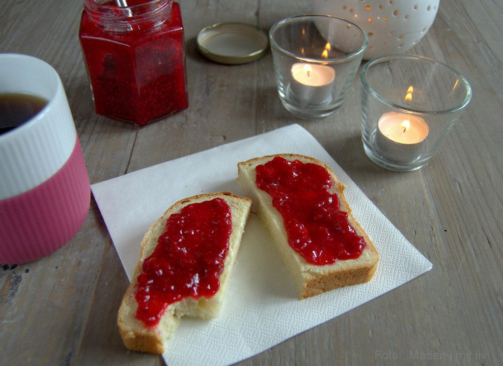 Hjemmelavet hindbærmarmelade med vanille…