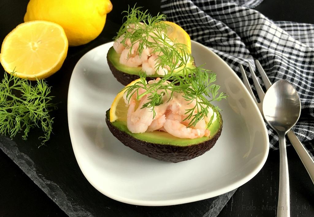 Avocado med rejer – nem forret.