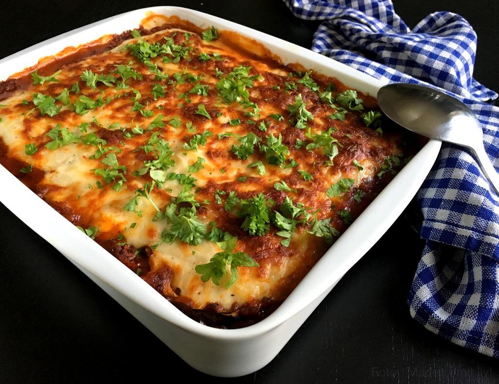 Moussaka med aubergine og kartofler…