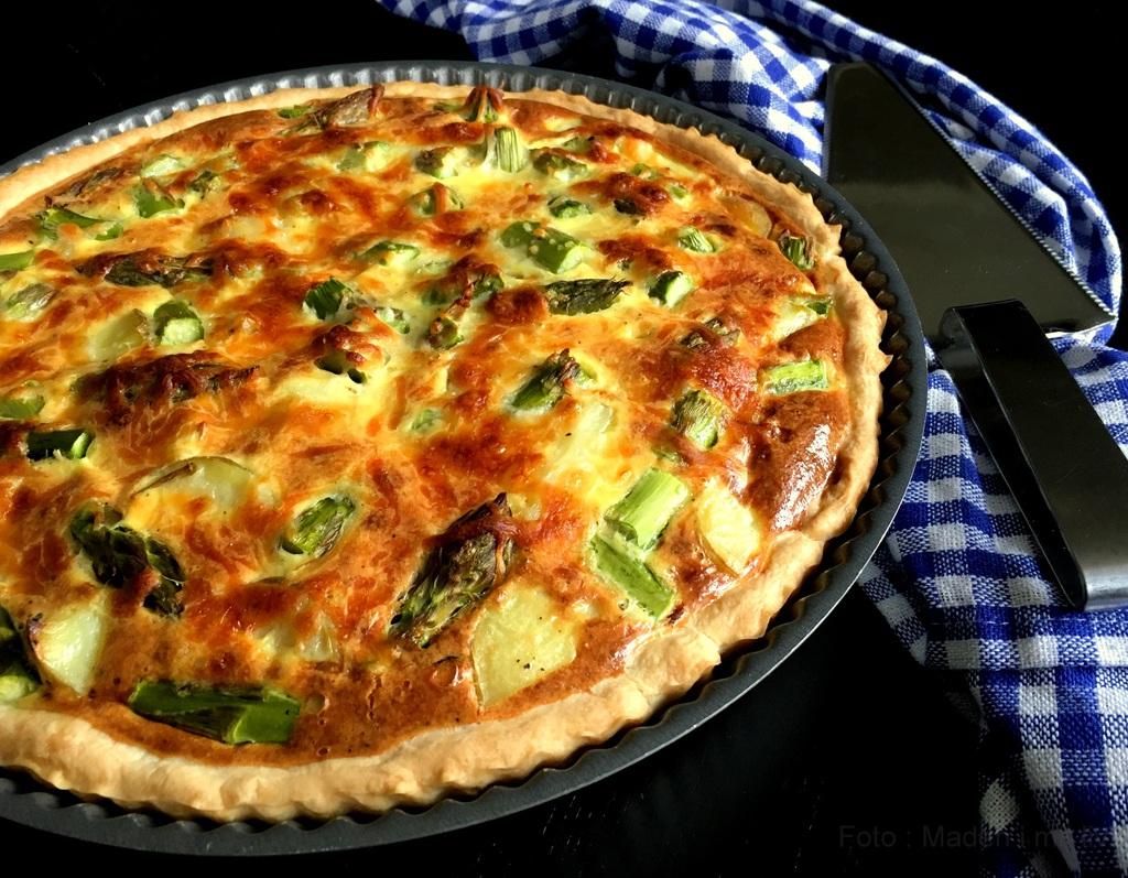 Tærte med asparges, kartofler og spinat…