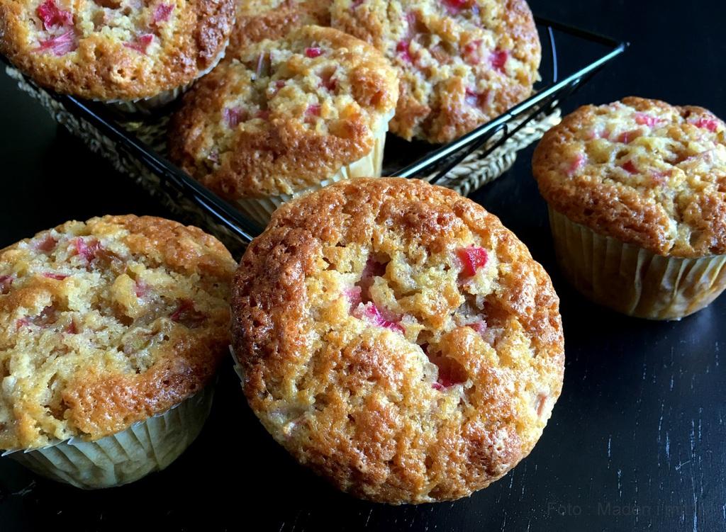 Makronmuffins Med Rabarber De Bedste Muffins Madenimitlivdk