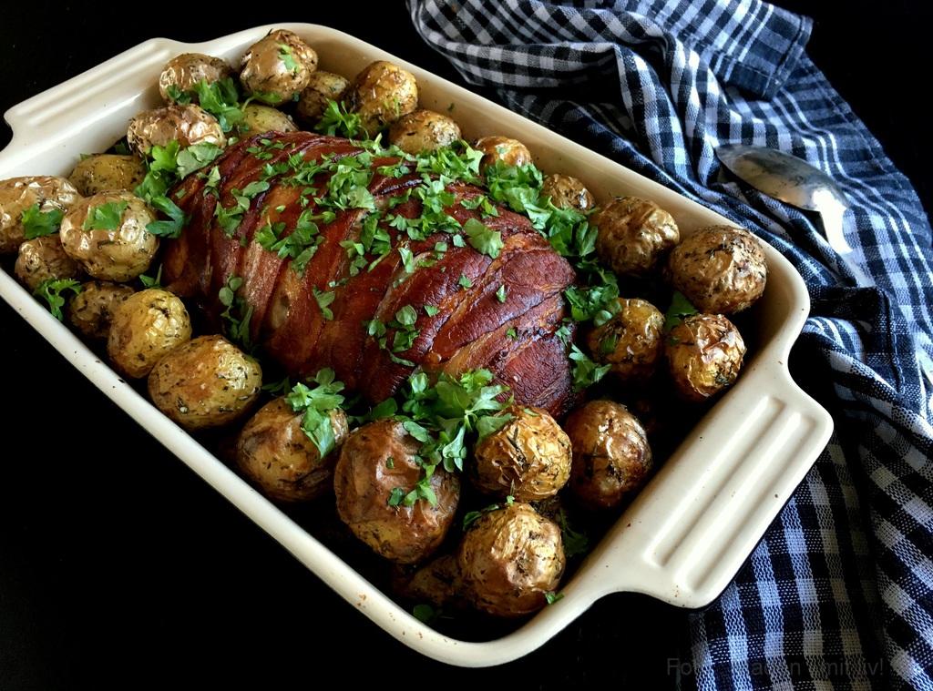 Farsbrød med timian og bacon…