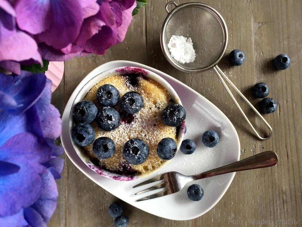 Kage i kop – blåbærmuffin på 5 minutter…