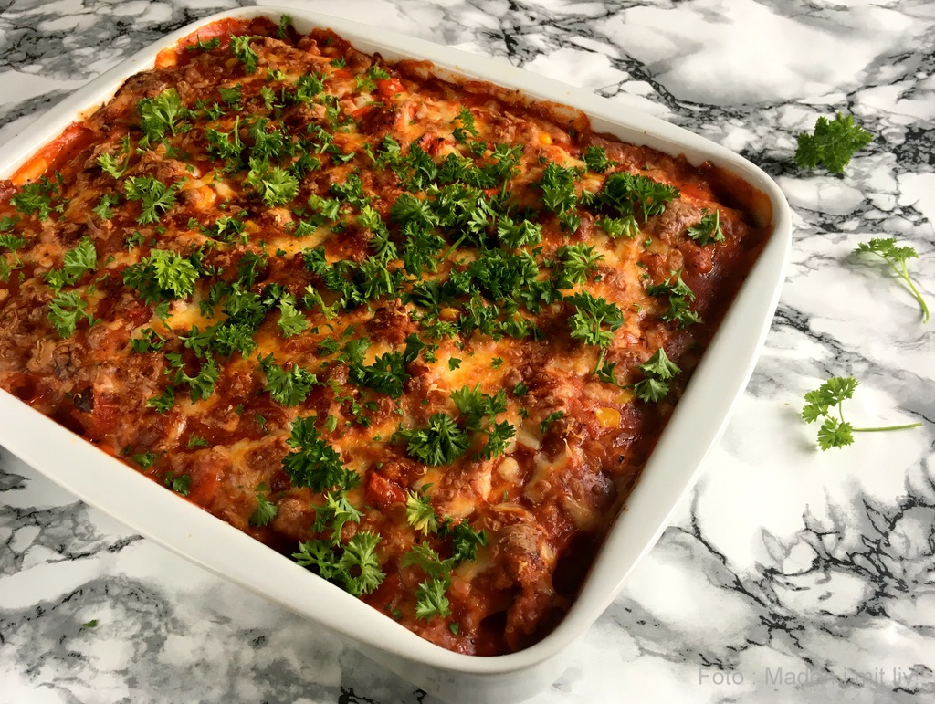 Kartoffellasagne med chorizo…