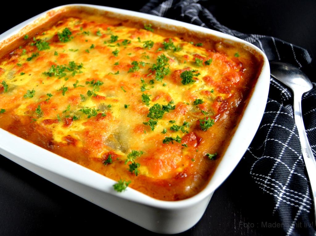 Bearnaiselasagne med oksekød og kartofler…