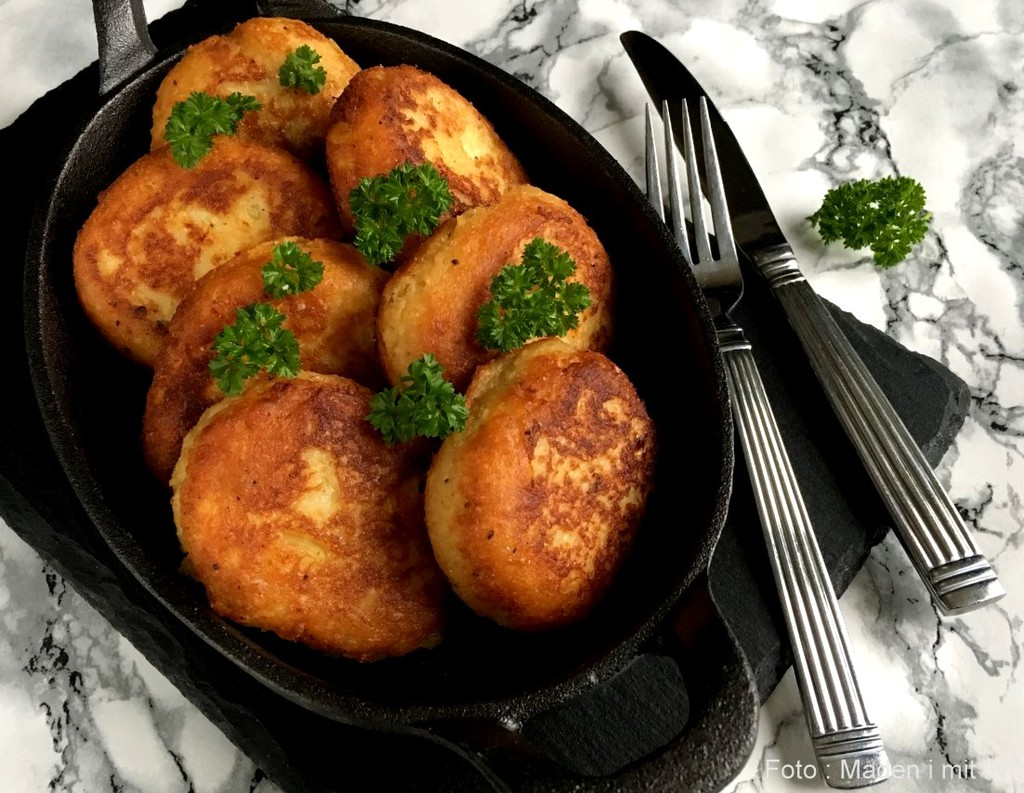 Sprøde kartoffelfrikadeller…