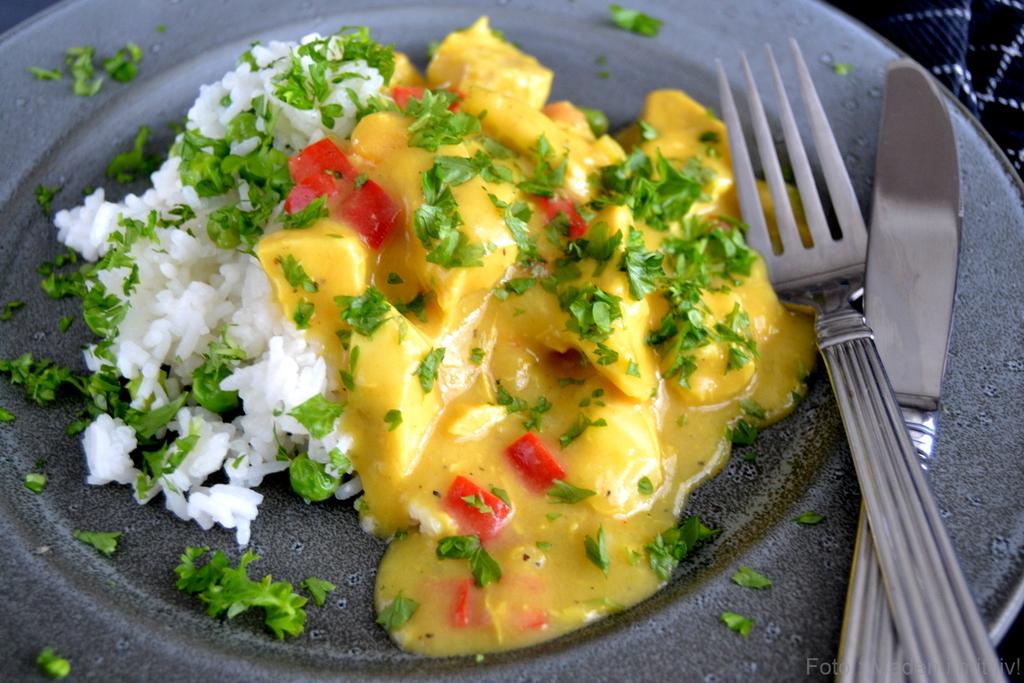 Kylling i karrysauce med mango…