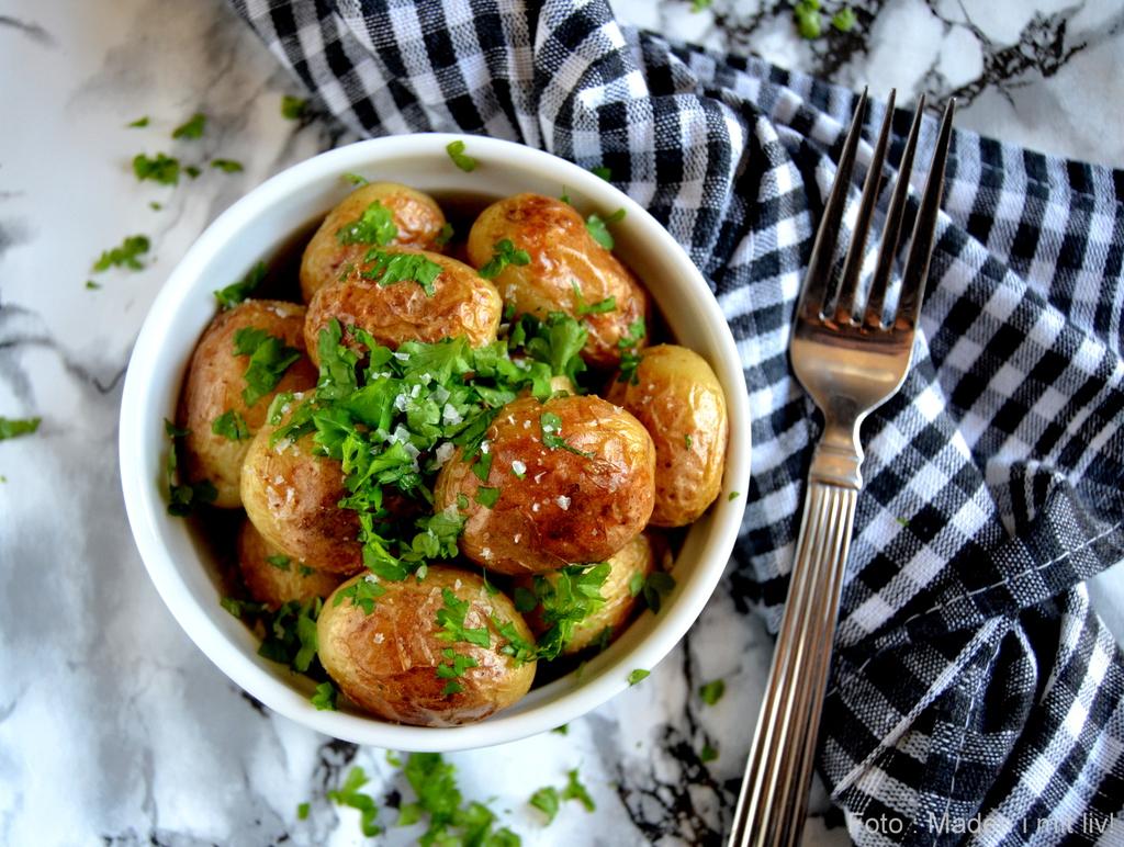Smørristede nye kartofler…