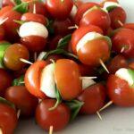 Spyd med tomat og mozzarella