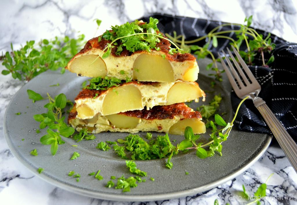 Spansk tortilla med kartofler.