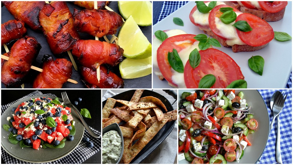 Snacks og lette retter i sommervarmen…