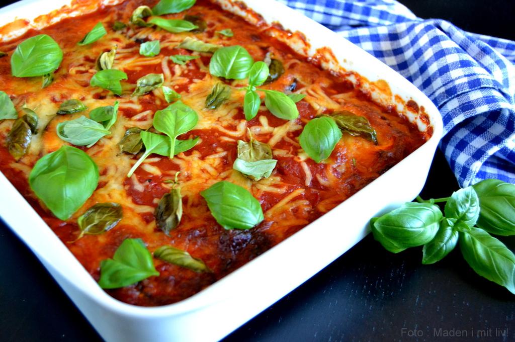 Auberginelasagne med tomat og ost…