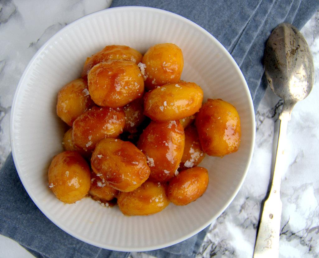 Brunede kartofler i ovnen…