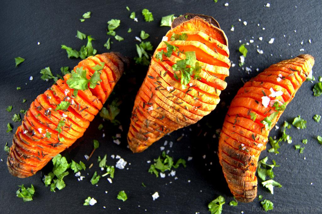 Hasselback Søde Kartofler Nem Og Lækker Opskrift Madenimitlivdk
