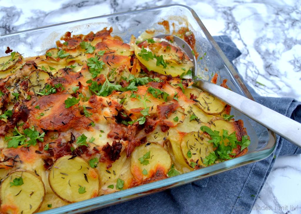 Kartoffelfad med kylling og bacon…