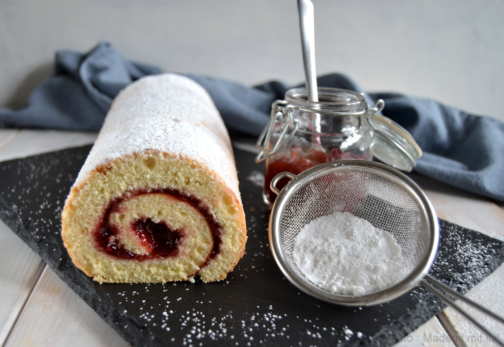 Roulade – nem opskrift på hjemmelavet hindbærroulade.