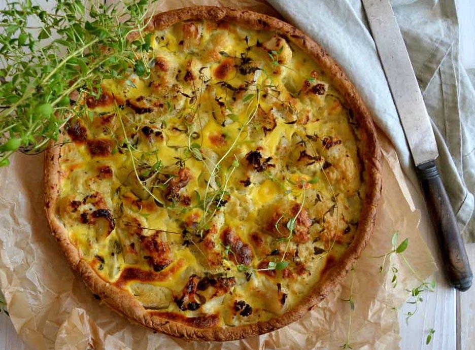 Tærte med blomkål og parmesan…