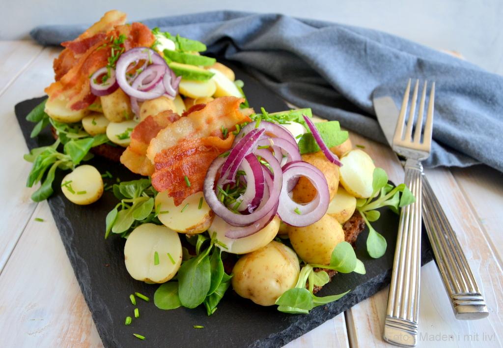 Kartoffelmad med bacon og avocado…