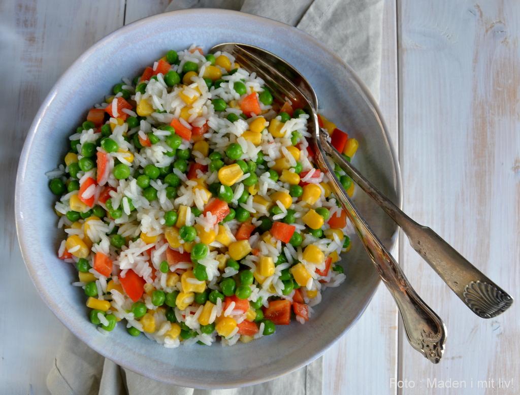 Ris med grøntsager…