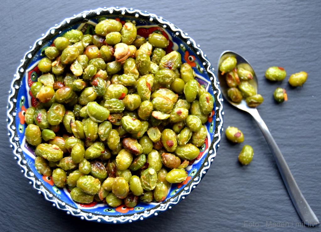 Sprøde edamamebønner med chili…