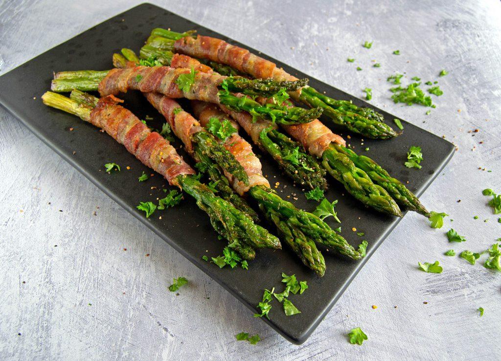 Grønne asparges med bacon…