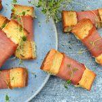 Mini toast med skinke og ost