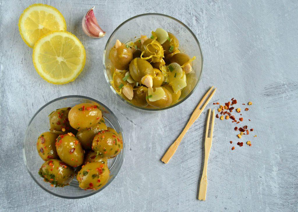 Marinerede oliven – nem opskrift på oliven.