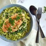 Kylling med spinat og frisk pasta