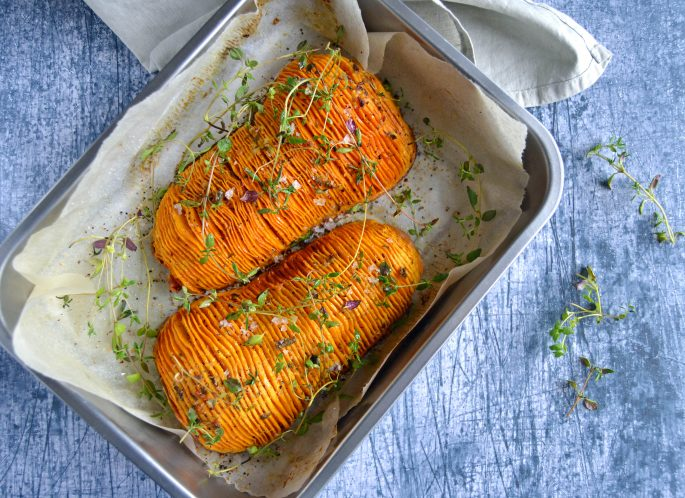 Hasselback butternut squash
