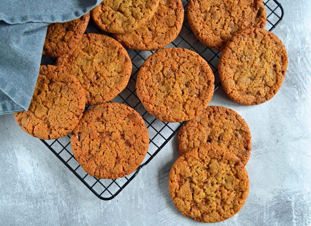 Daim cookies – sprøde cookies med daim.